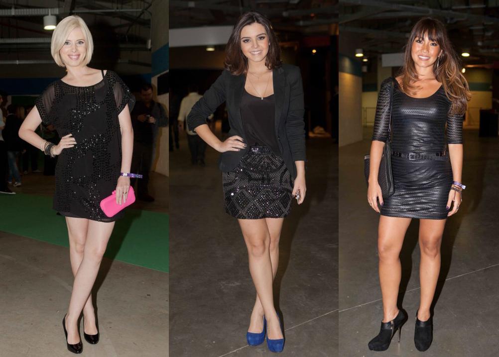 Sapatos para usar com vestido curto preto