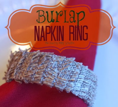Burlap Napkin Holders Tutorial