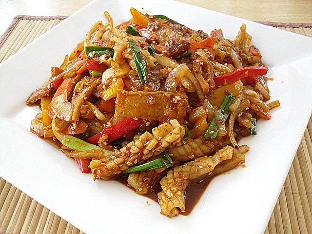 Little corner of mine korean spicy stir fried squid ojingeo bokkeum korean spicy stir fried squid ojingeo bokkeum forumfinder Images