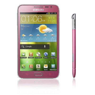 Samsung anuncia rosa Nota Galaxy na Coreia do Sul