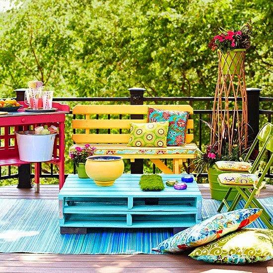 fotos hacer muebles con palets - Inicio Paletos Muebles de palets reciclados hechos