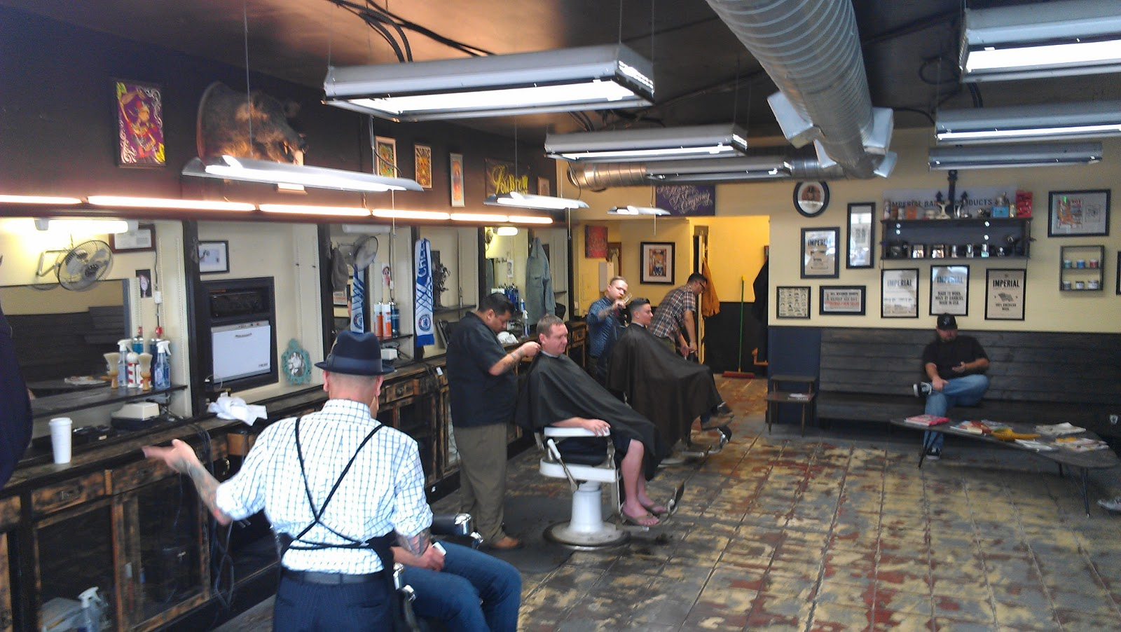 Barber Shop In Long Beach : Frank Reiland....Barber: Support Your Local Barber: Long Beach Trip
