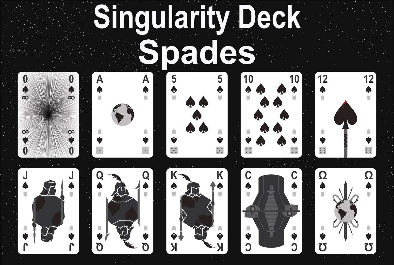 The Singularity Deck - Spades Art