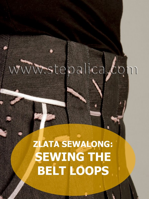 Zlata skirt sewalong: #6 Sew the belt loops