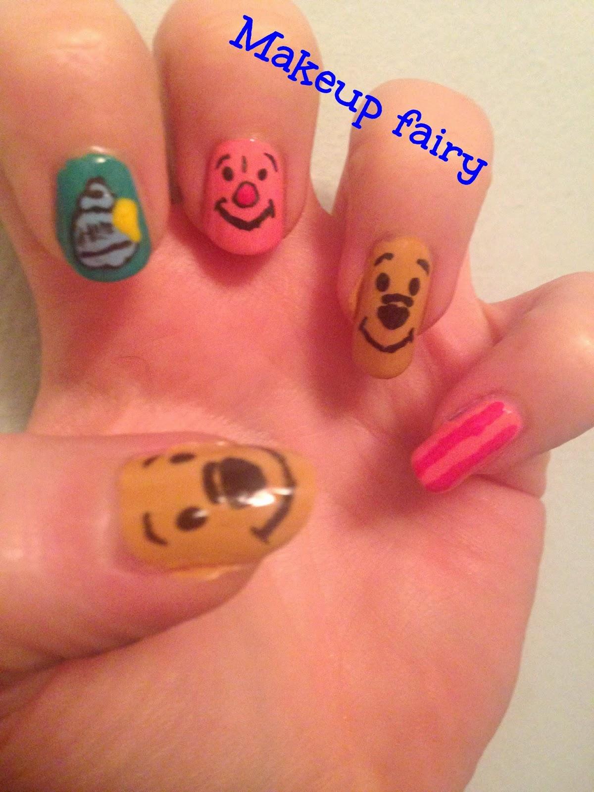 Tinklesmakeup Winnie The Pooh Nail Art