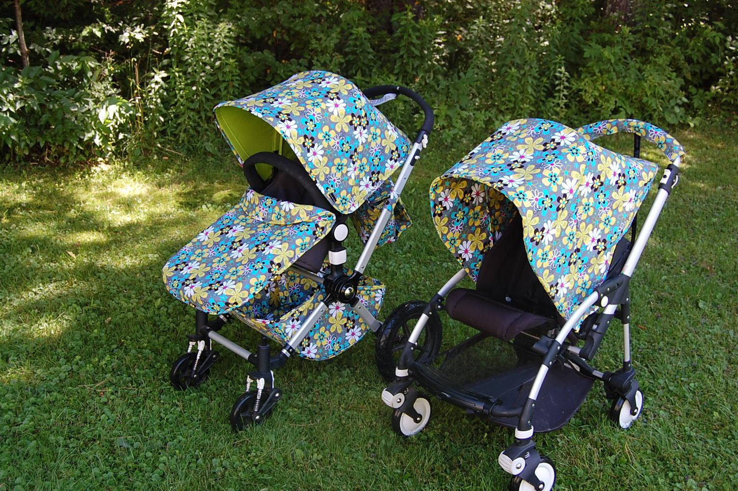 Lagoon Daisy - 2 custom sets & Maine Baby Treats - Custom Bugaboo Stroller Covers: August 2011