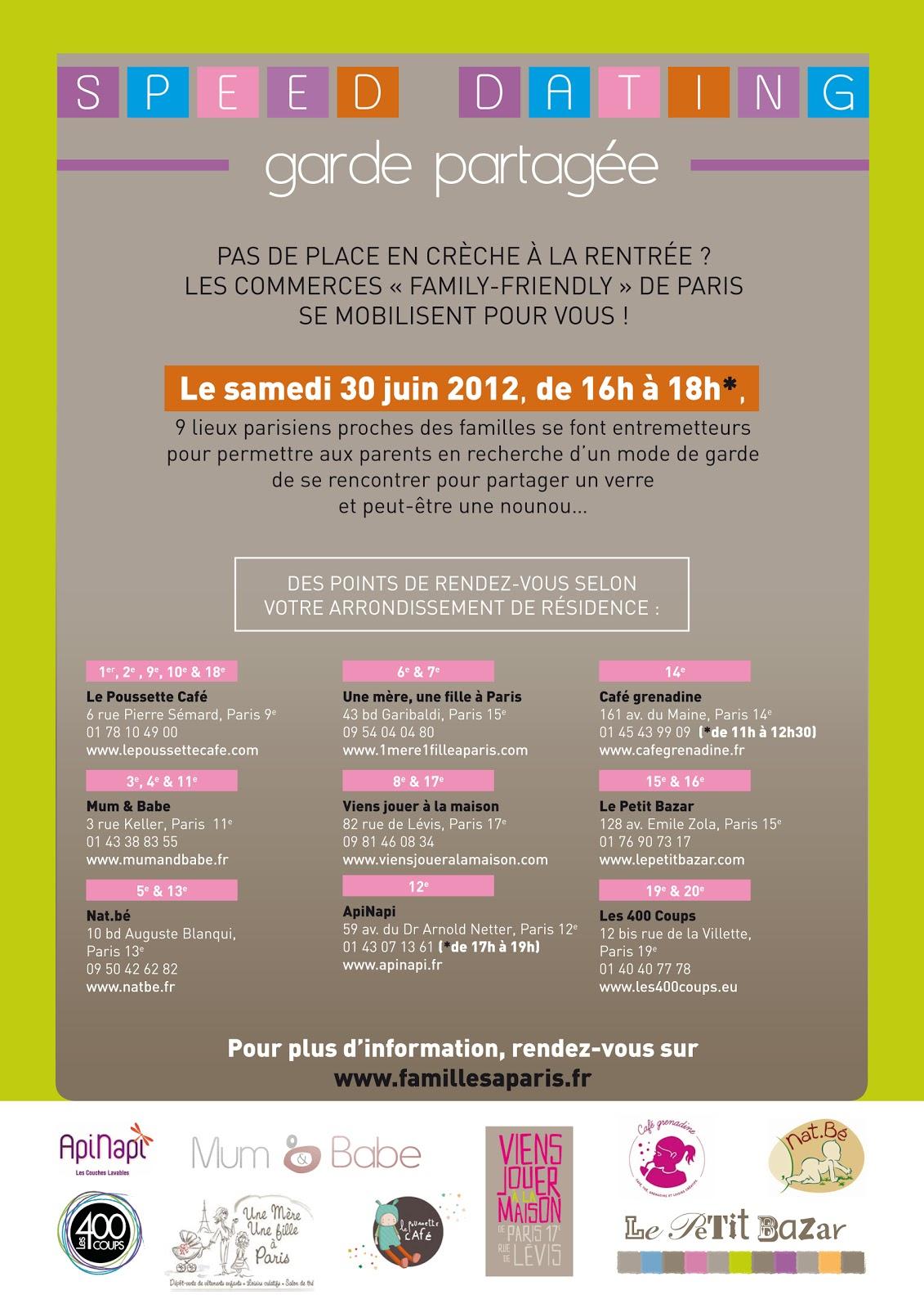 soirge speed dating paris mercredi Rencontres à paris, speed dating entre hommes et femmes célibataires à paris,  célibataires de paris, soirée  le mercredi 19 septembre 2018 à 20h00.