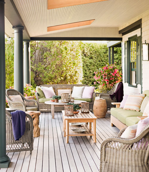 Spicer bank by allison egan house tour fresh old - Fresh blue deck furniture design ideas for relaxing outdoor rooms ...