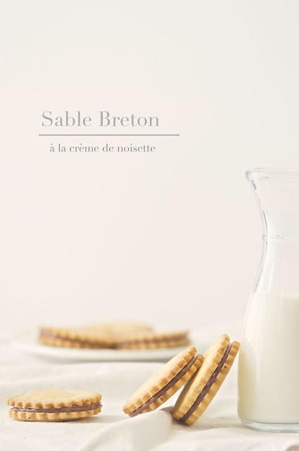 sable breton à la crème de noisette