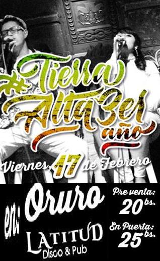 Tierra Alta presenta Infinta Esencia en Oruro