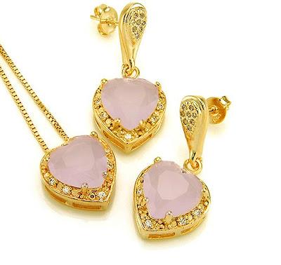 coração pedra rosa
