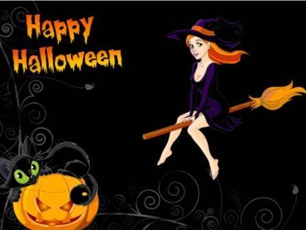 gadis cewek cantik main malam halloween