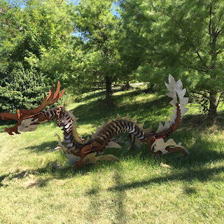 welding, weld, dragon, sculpture, metal, cool dragon, dragon sculpture, blairstown, new jersey, ny