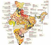 Mapa Gastronómico de la India. Mapa general de la India india mapa gastronomico