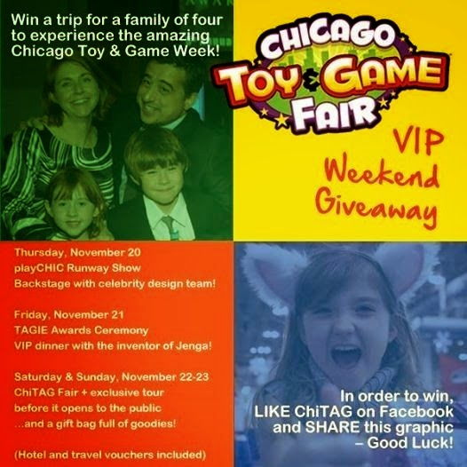 WIN ChiTAG VIP Travel/Toys/Hotel Package through 11/10 & Weekly ChiTAG family passes through 11/20
