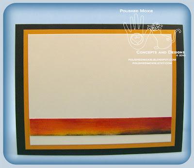 Inside panel of my Handmade Desert Sunset Card.
