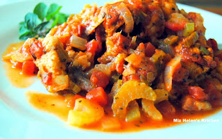 Chicken and Ham Jambalaya from Miz Helen's Country Cottage
