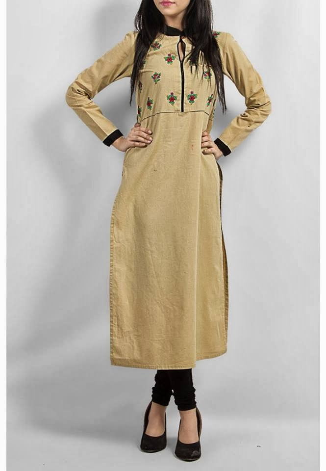 Latest Fashion Trends Generation New Girls Kurta S For Winter 2014
