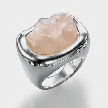 buy Silver and Rose Quartz Ring