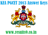 KEA PGCET 2013 Provisional Key Answers