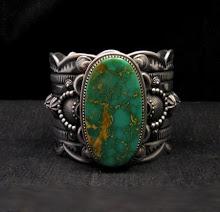 Navajo Native American Royston Turquoise Bracelet