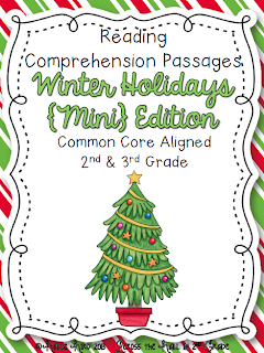 http://www.teacherspayteachers.com/Product/Reading-Comprehension-Passages-Christmas-Holiday-Themed-Common-Core-1003319