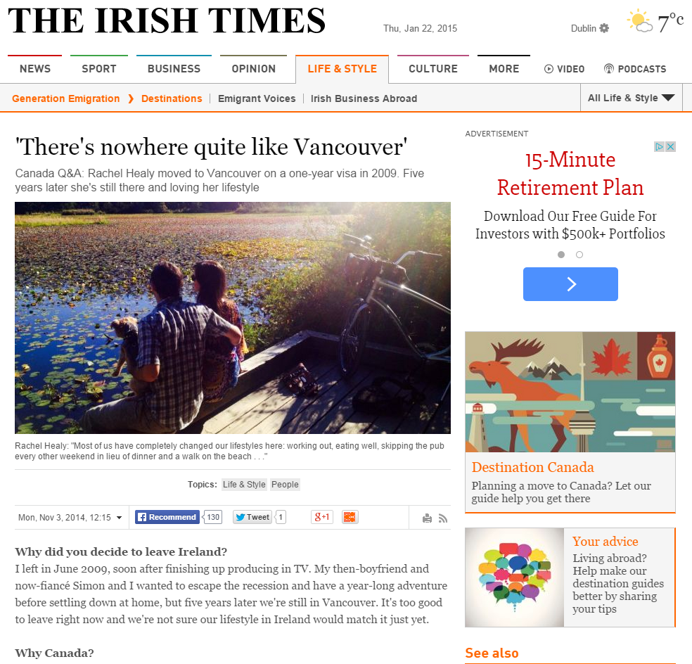 'There's nowhere quite like Vancouver'