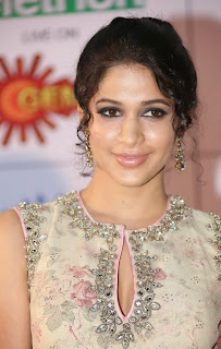 Actress Lavanya Tripathi Latest Pictures in Long Dress at Memu Saitam Dinner with Stars Red Carpet 3