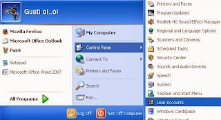 Cara Membuat Password Komputer Windows XP