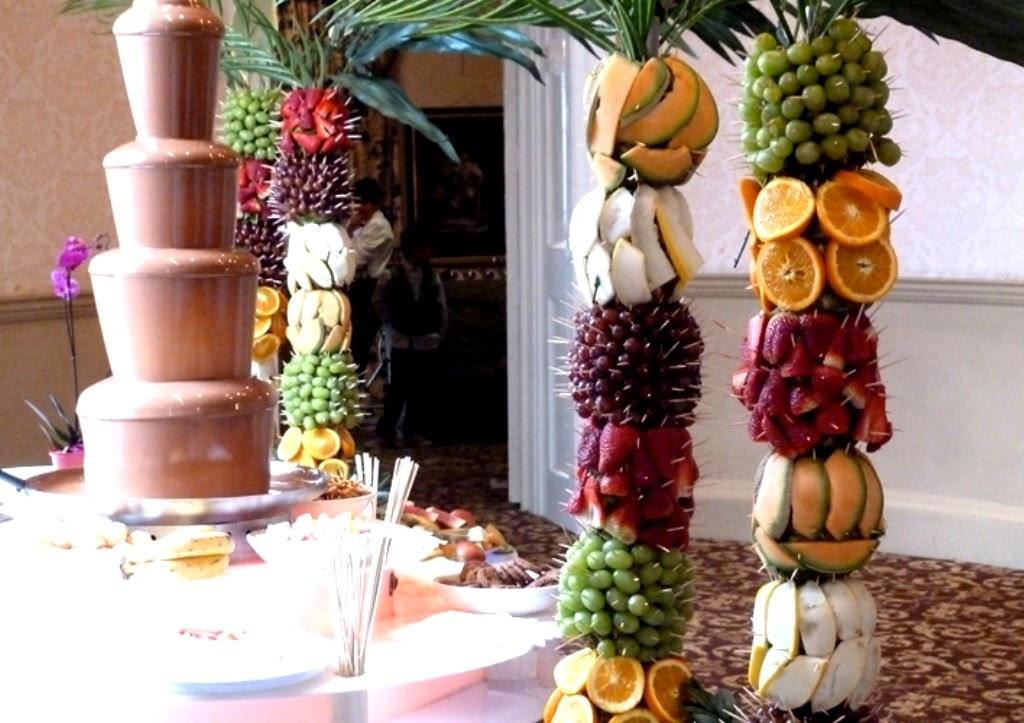 Como preparar frutas para cascadas de chocolate mesa dulce