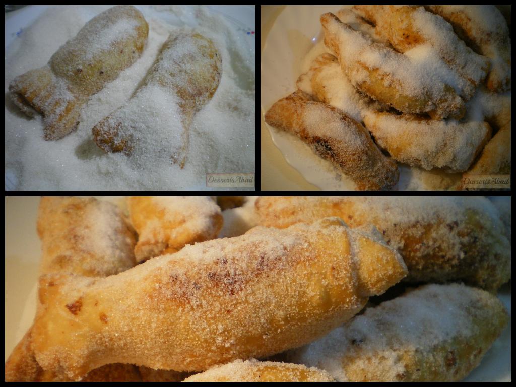 Casadielles (Rebozado en azúcar y canela)