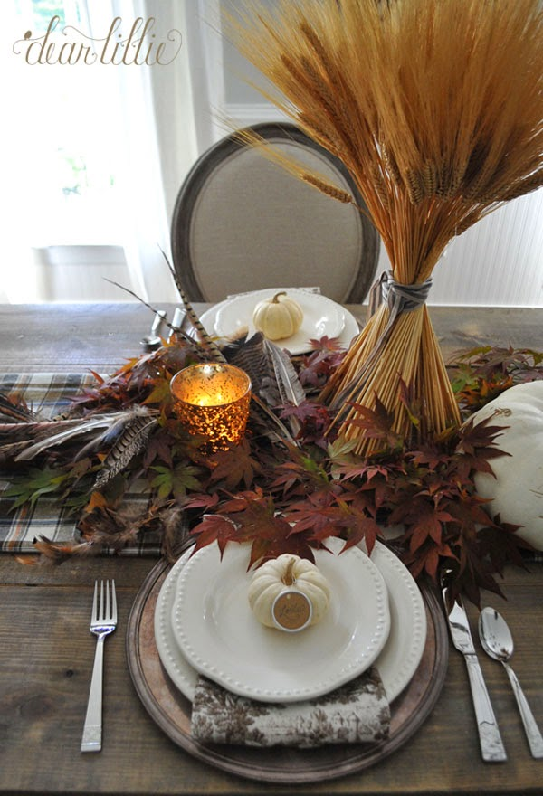 Dear lillie a simple thanksgiving table setting for Easy table settings for thanksgiving