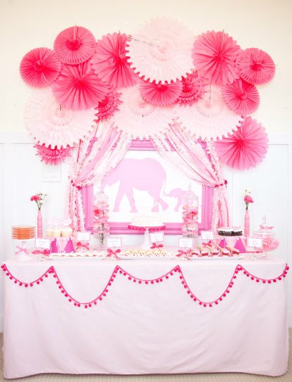 Be different act normal pink elephant baby shower for Baby birthday ideas of decoration