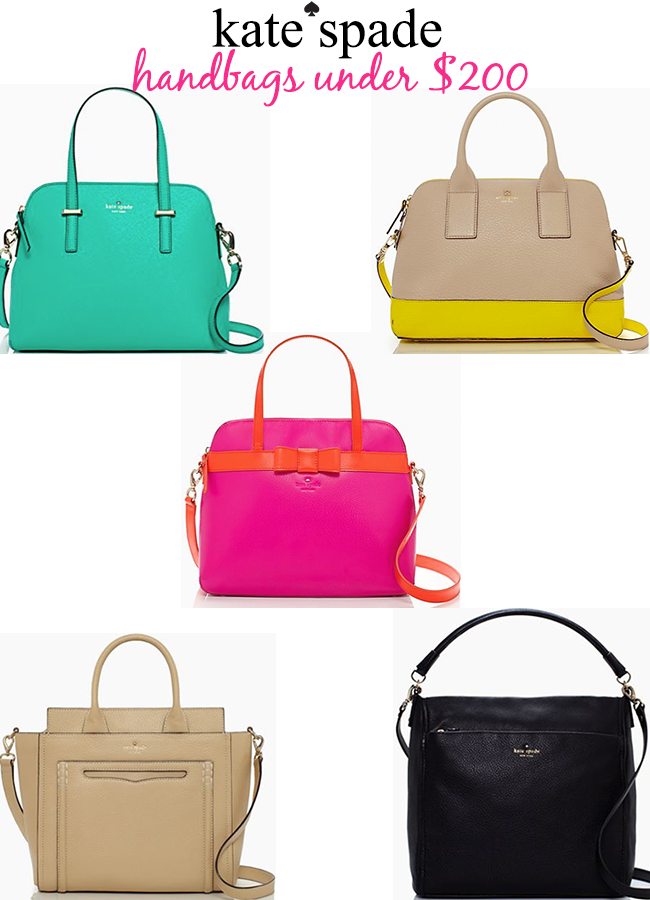 Kate spade handbags under $200