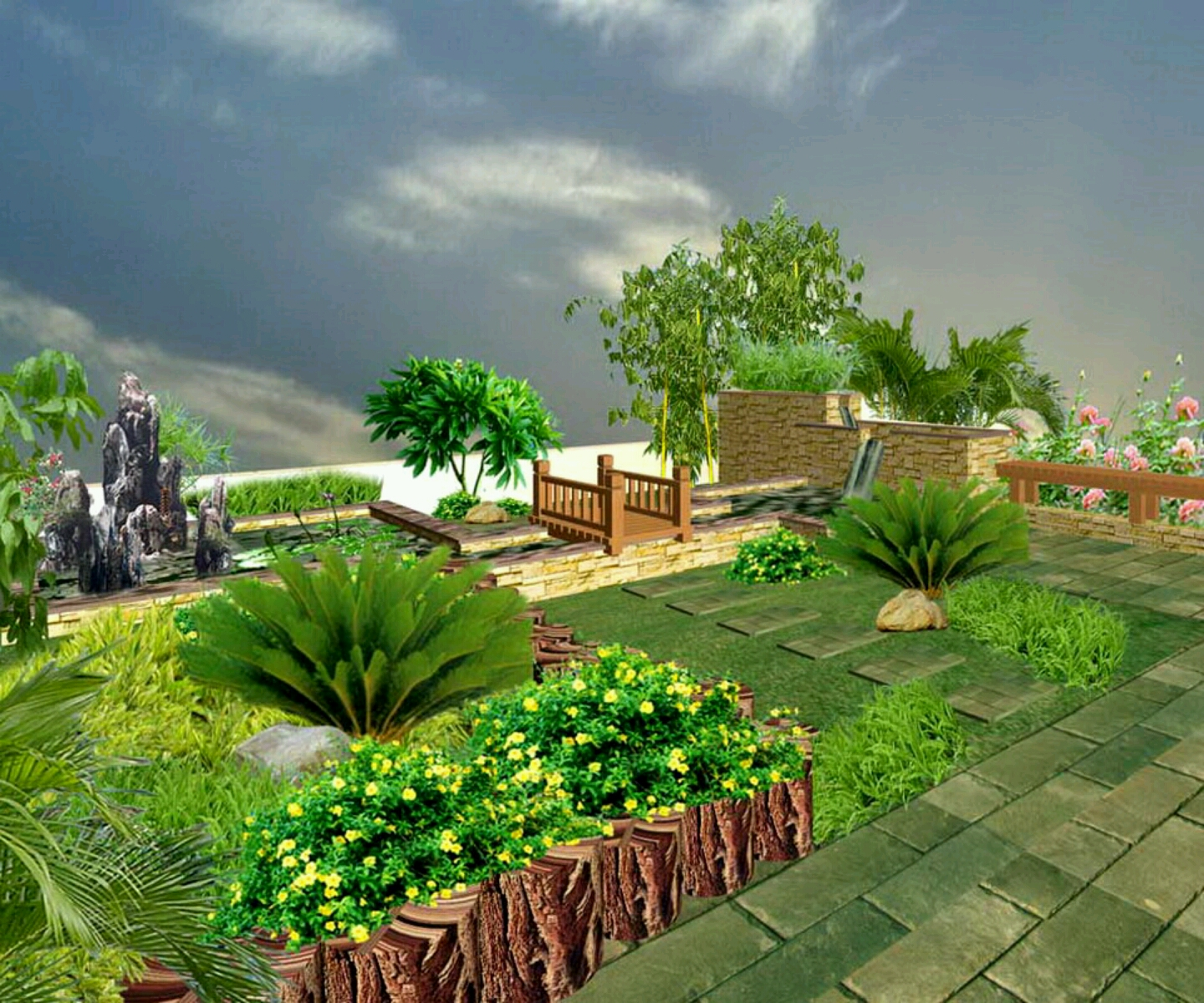 Modern luxury homes beautiful garden designs ideas new for Modern house garden
