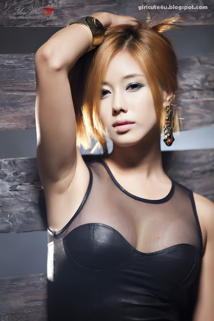 10 Kim Ha Yul-Leather Mini Dress-very cute asian girl-girlcute4u.blogspot.com