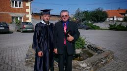 Szarvas Andrei si Pastorul Ioan Serban la absolvirea Seminarului Biblic Penticostal,,BETANIA,, Arad