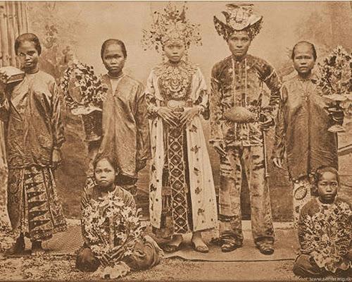 Pengantin Jawa di tahun 1902
