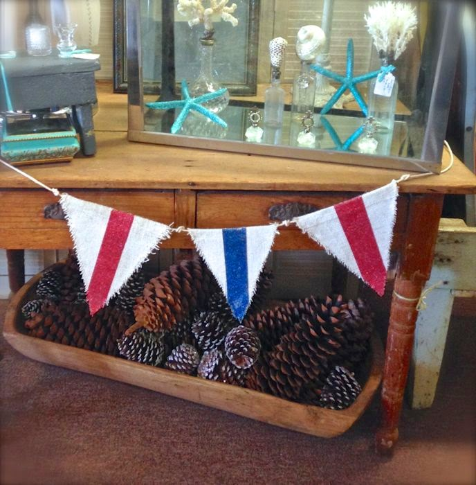 Fourth of July banners  French farm table The Pickled Hutch
