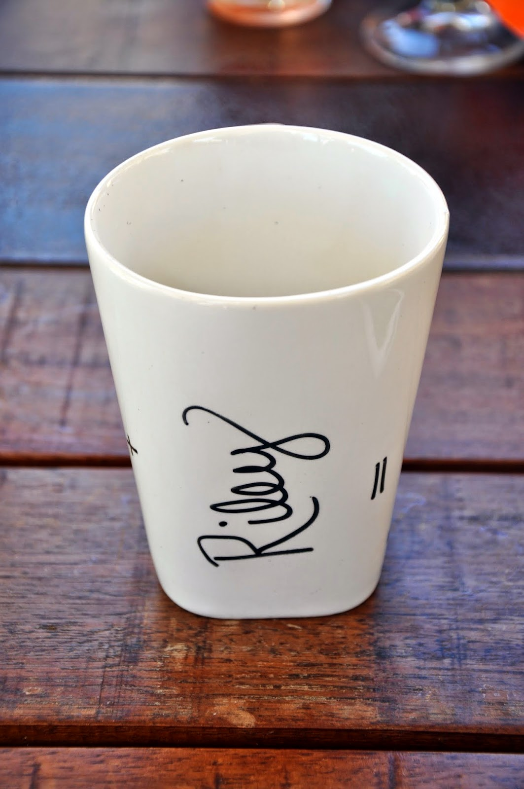 DIY Sharpie Coffee Mug |  A little about a Lot
