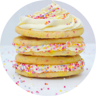 Funfetti Sugar Cookie Sandwich