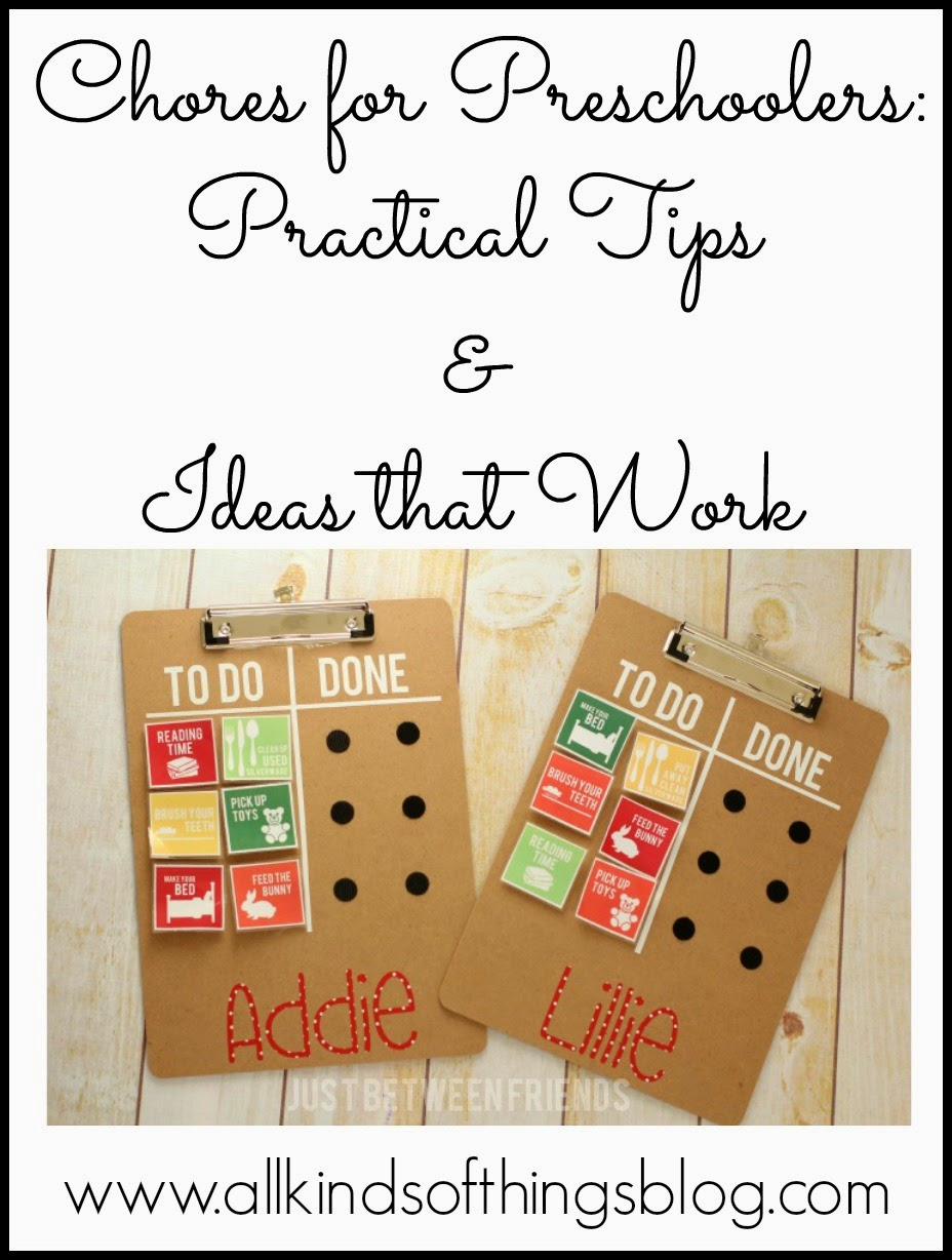Chores for Pre-Schoolers - Practical Tips & Ideas that Work