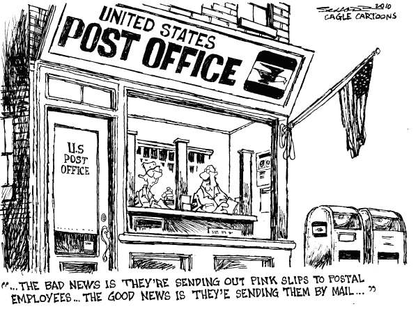 Cartoon Post Office Building After observing how the post office is run -- especially in contrast to