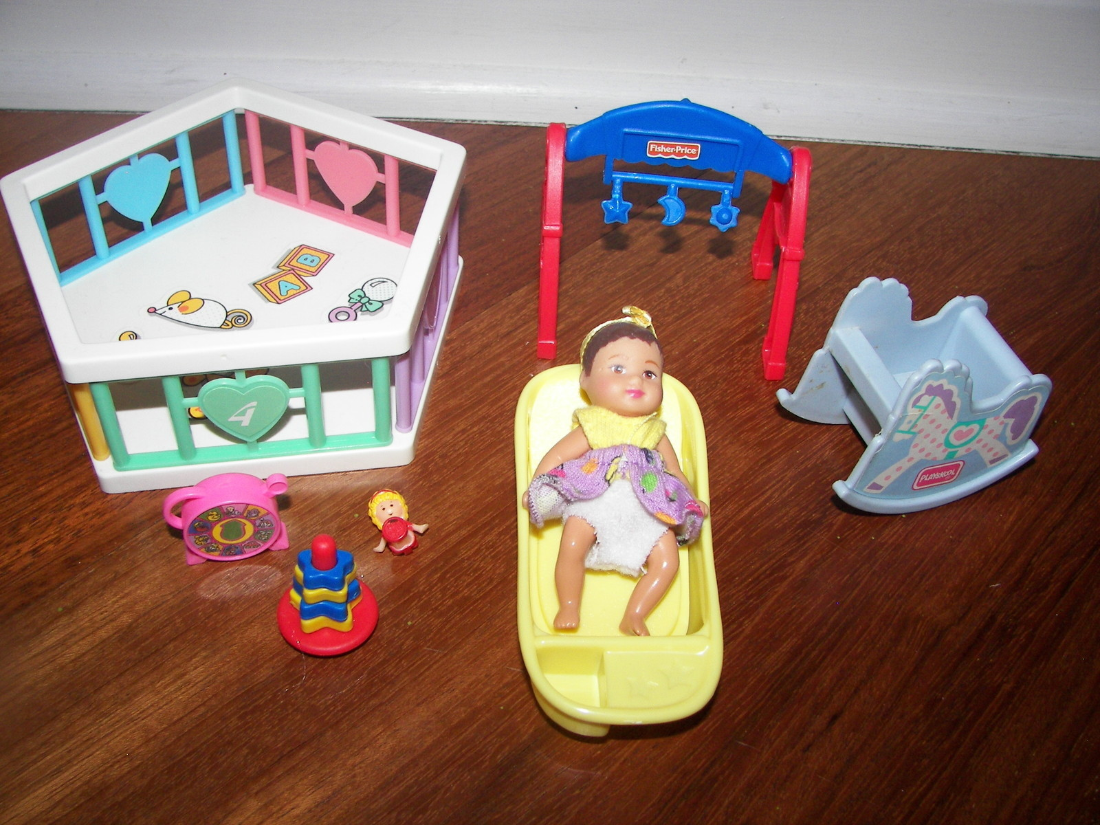 Для барби детская кроватка для кукол