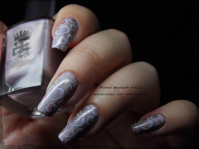 Nail art coeurs stampés5
