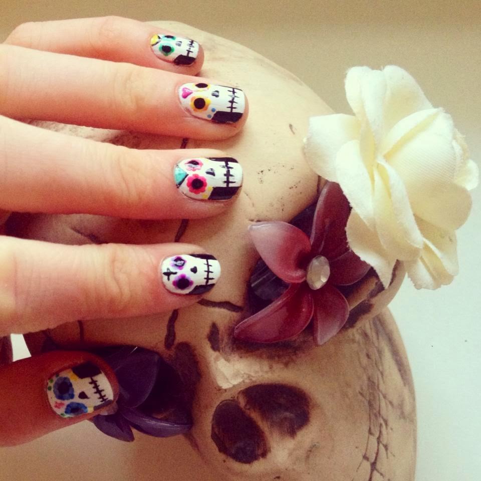 Mexican Sugar Skull Nail Art Nails By Mellissa