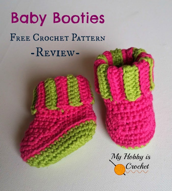 My Hobby Is Crochet Baby Booties With Ribbed Cuff A Free Crochet