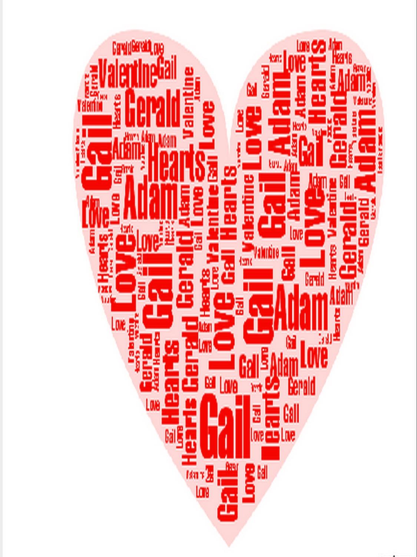 Purple Hues and Me: Valentine Word Heart
