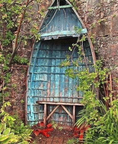boat garden bench