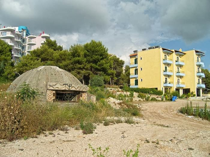 Bunkers in the city of Albania